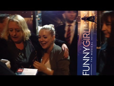 Sheridan Smith leaves the Savoy after Funny Girl October 2016