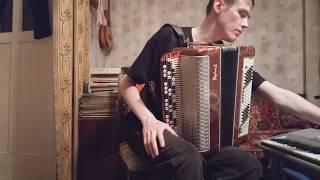 До-мажорный аккорд, простейшие короткие арпеджио правой рукой на баяне. Урок#14