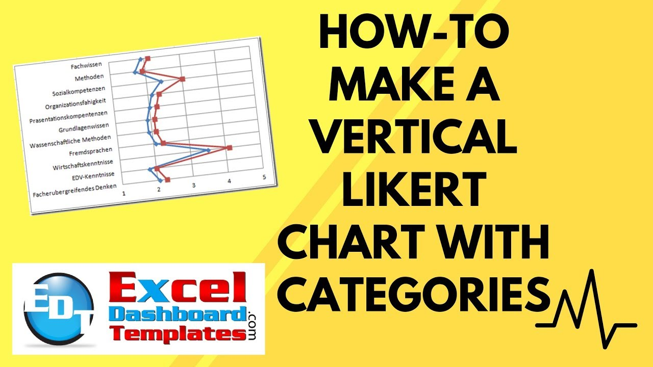 How To Make An Excel Vertical Likert Chart With Categories