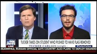 Carlson Destroys College Student Who Supported Removal of American Flag from Campus