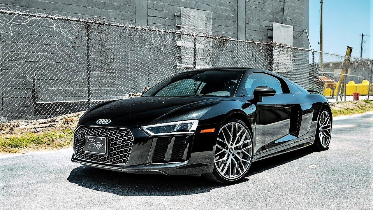 2017 audi r8 610 hp v10 plus amazing sound revs acceleration at prestige imports miami youtube. Black Bedroom Furniture Sets. Home Design Ideas
