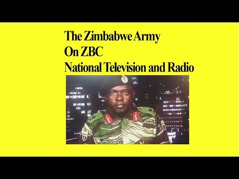 Zimbabwe Army  On ZBC National TV & Radio, We Are Targeting Criminals, Who will they Arrest?