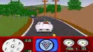 Old PC game, Accolade, 1992 gameplay video - one race.