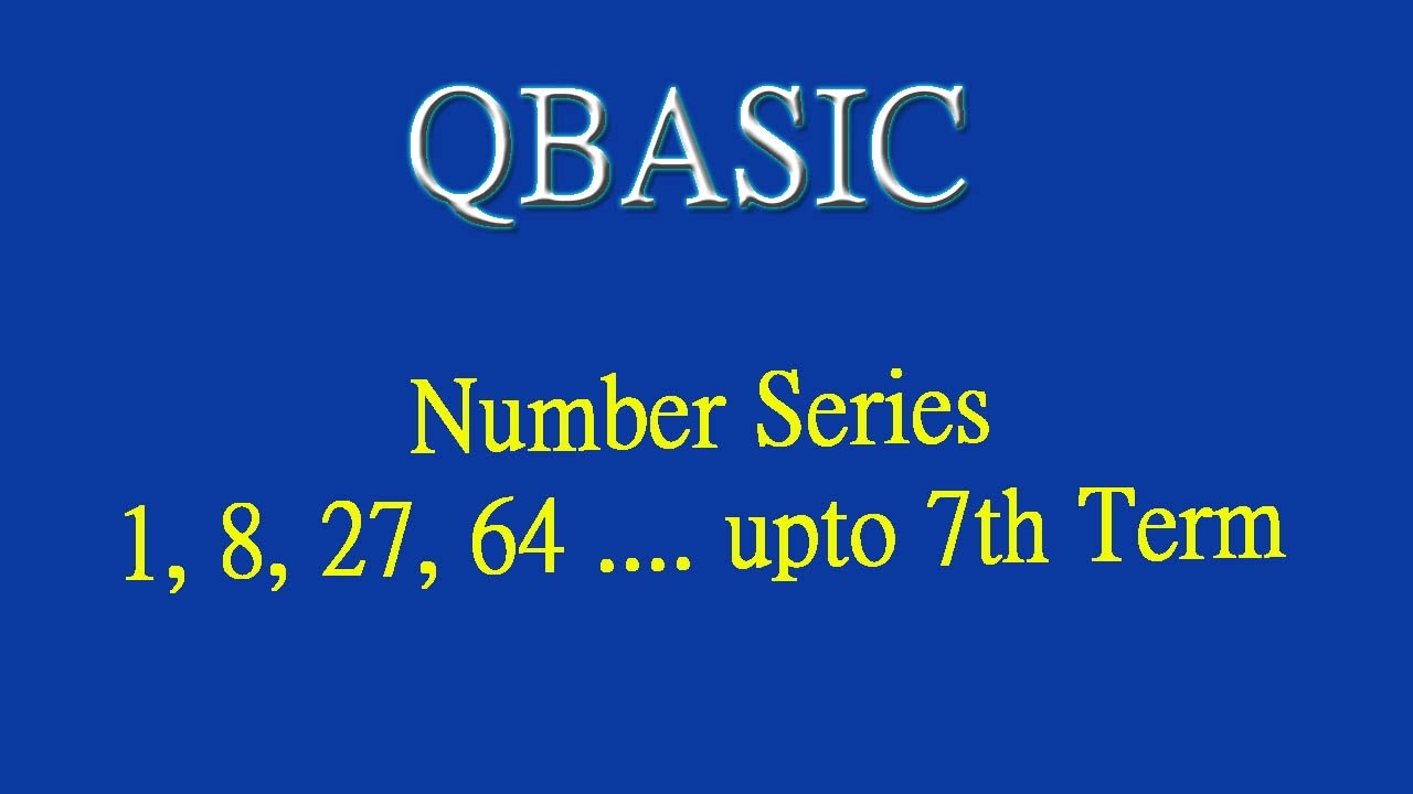 16 Number Series 1 8 27 64 Upto 7th Term By Technical