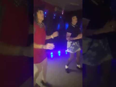 Skinhead girls dancing