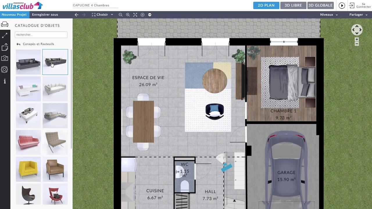 Plan De Maison 3d Decouvrez Notre Configurateur Gratuit En Ligne Villas Club