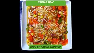Noodle Soup | Vegetable soup from Scratch | Homemade soup