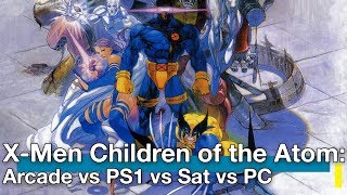X-Men Children of the Atom: Arcade vs PS1 vs Sat vs PC Comparison
