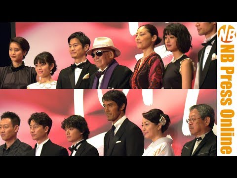 [4K]阿部寛、染谷将太、常盤貴子、大林宣彦監督 編 第30回東京国際映画祭レッドカーペット