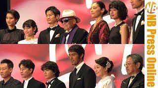 第30回東京国際映画祭レッドカーペットより、 阿部寛、染谷将太、常盤貴...
