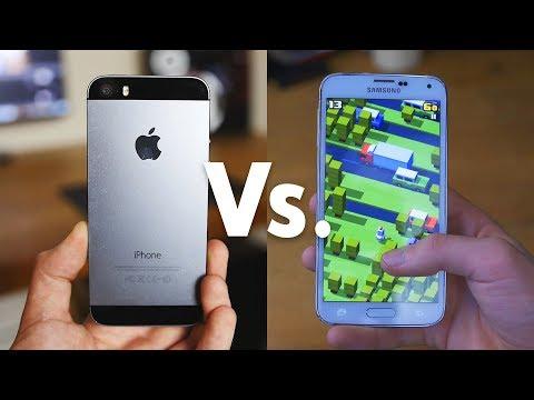 iPhone 5S Vs. Galaxy S5 (2017)