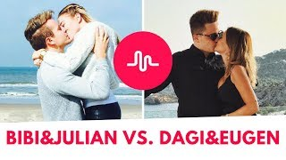 Bibi & Julian VS Dagi & Eugen 💕 Musical.ly