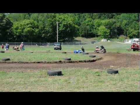 Super Modified Lawnmower Racing in Leslie, Arkansas
