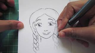 How to draw hairstyles : braids/ ponytails part 2
