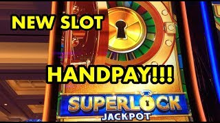 NEW SLOT SUPERLOCK: LOCK IT LINK HANDPAY + BIG BONUS WINS