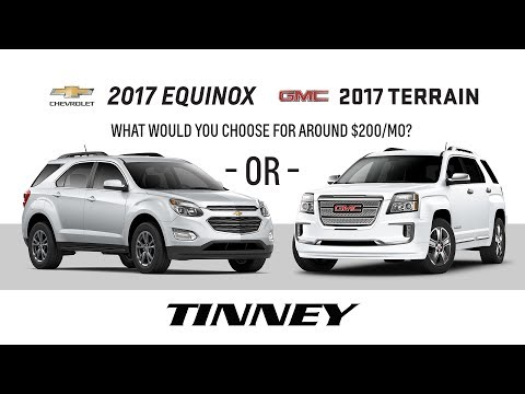 2017 Chevy Equinox or 2017 GMC Terrain Prices and Deals | Tinney Automotive