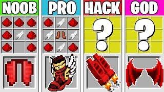 Minecraft Battle: REDSTONE CRAFTING CHALLENGE! NOOB vs PRO vs HACKER vs GOD in Minecraft Animation