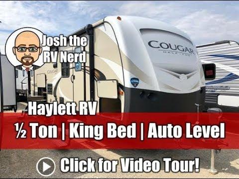 2018 Cougar 26RBS Half Ton Rear Bath Side Entertainment Outside Kitchen Keystone Travel Trailer