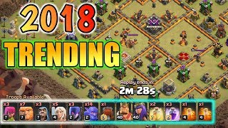 Video TRENDING ATTACK IN CLASH OF CLAN TH10 download MP3, 3GP, MP4, WEBM, AVI, FLV September 2018