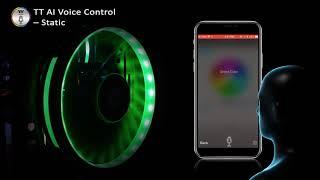 Thermaltake Riing Plus 20 LED RGB Case Fan TT Premium Edition AI Voice Control Demo