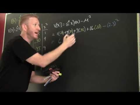 The Variance and Standard Deviation of a Probability Distribution