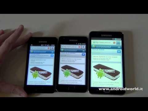 Confronto: Samsung Galaxy R vs Samsung Galaxy S II vs Samsung G70