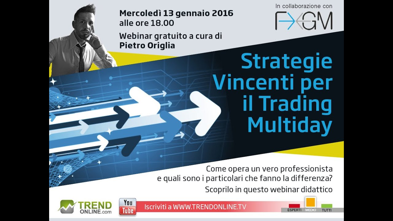9f31706aec Strategie Vincenti per il Trading Multiday - YouTube