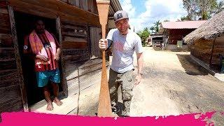Surinamese River VILLAGE TOUR + Shopping for a Paddle   Isadou Island, Suriname