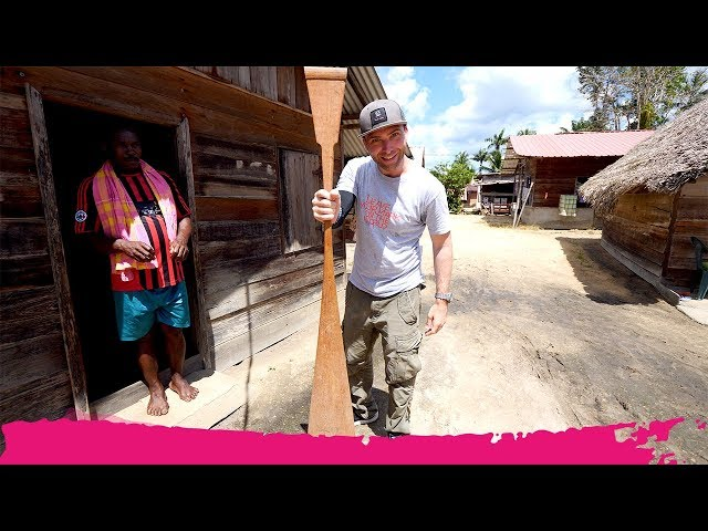 Surinamese River VILLAGE TOUR + Shopping for a Paddle | Isadou Island, Suriname