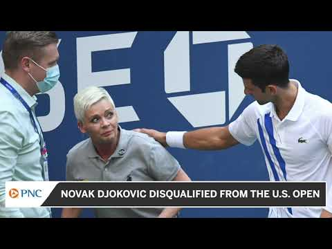 Novak Djokovic Disqualified From U S Open Youtube