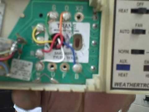hqdefault air conditioning repair tips how to change a heat pump thermostat Trane HVAC Wiring Diagrams at edmiracle.co