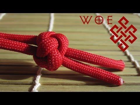 How to Tie the Ideal Paracord Lanyard Knot (Two Strand Diamo
