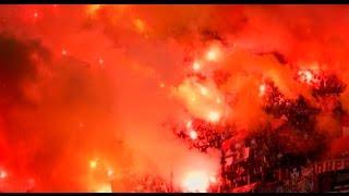 סרביה, בלגרד; עימותים בין מחנות האוהדים של פרטיזן והכוכב האדום במשחק בין שתי הקבוצות    צילום רויטרס