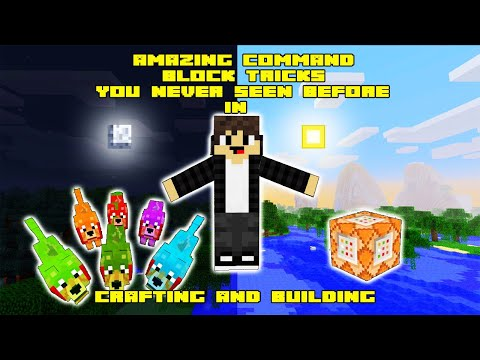 Amazing Command block tricks you never seen before in crafting and building | Daosao gamers