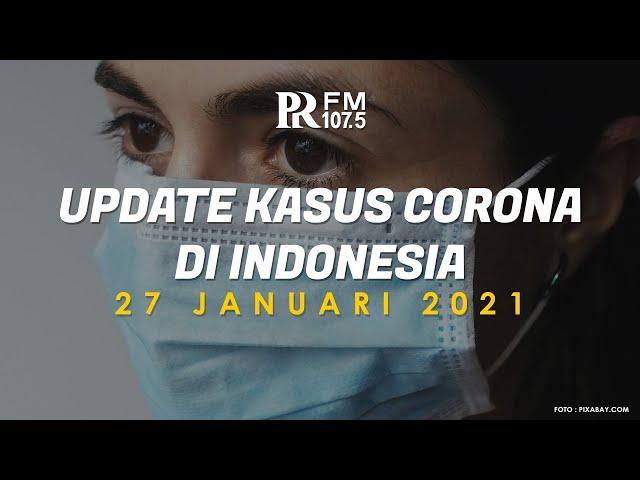 Update Kasus Corona di Indonesia 27 Januari 2021
