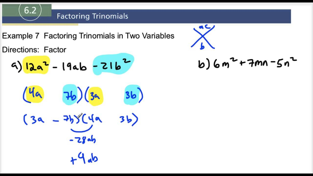 how to factor two variables
