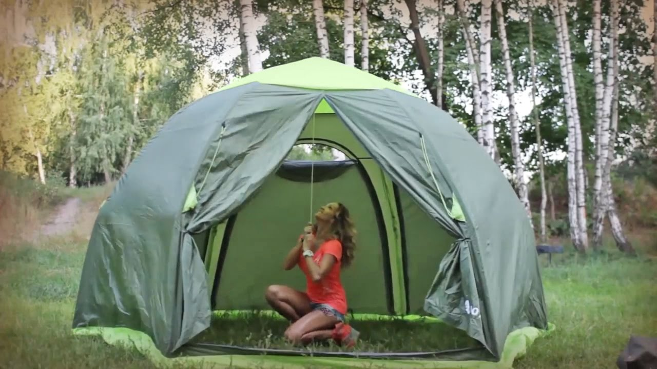 Тент-шатер Green Glade - YouTube