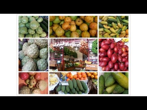 Madeira fruit and vegetables market 馬德拉蔬果市場 HD