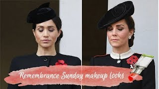 Meghan Markle and Kate Middleton Remembrance Sunday make up looks