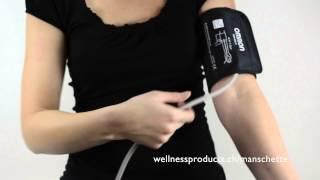 Eine Blutdruck-Oberarm-Manschette richtig anlegen