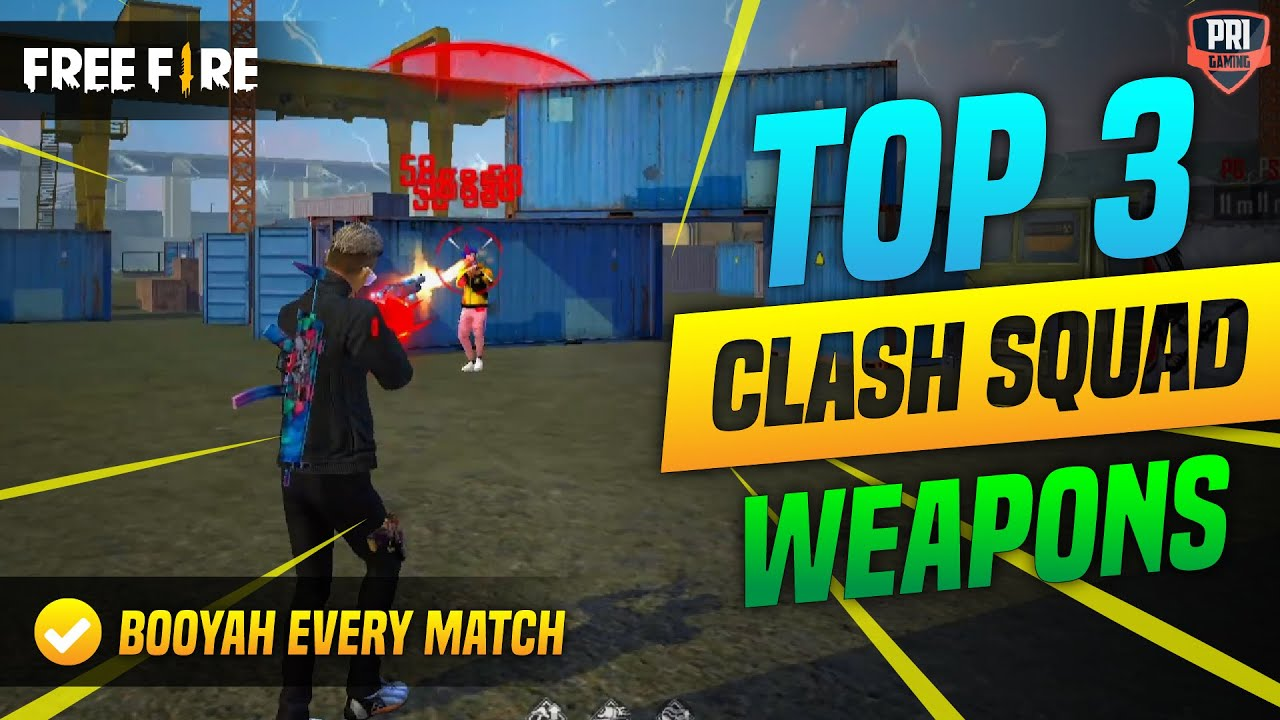 TOP 3 BEST GUNS IN CLASH SQUAD FOR AUTO HEADSHOT AND ONETAP | BEST GUN FOR CLASH SQUAD IN 2021