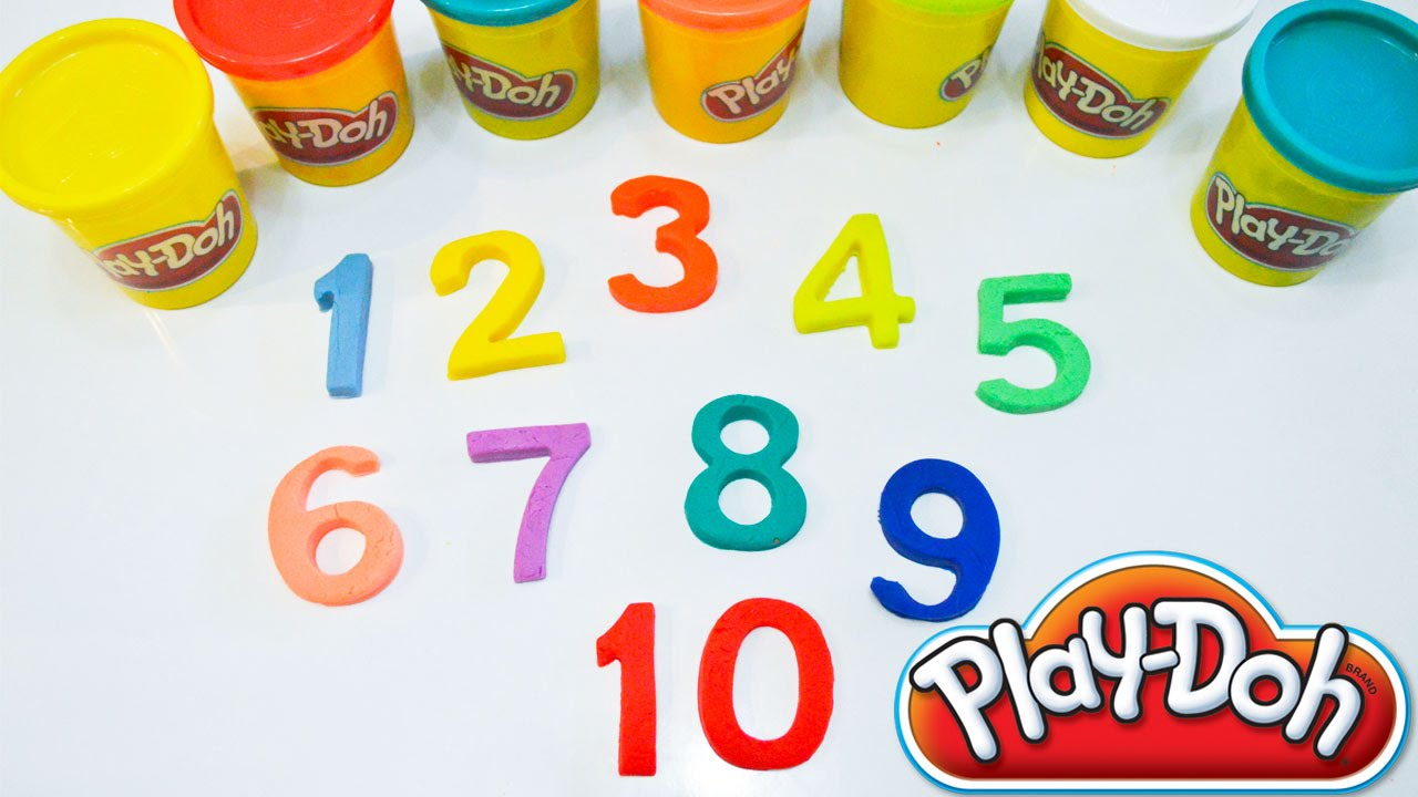 Colorful Play Doh Numbers | Counting Real Numbers | Count ...