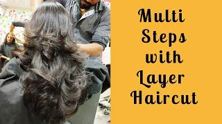 Multi steps with layer haircut 2018(Advance)