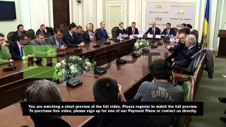 Ukraine: See Yatsenyuk, Tymoshenko & co sign coalition agreement