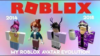 My Roblox Avatar Evolution! (2014-2018)