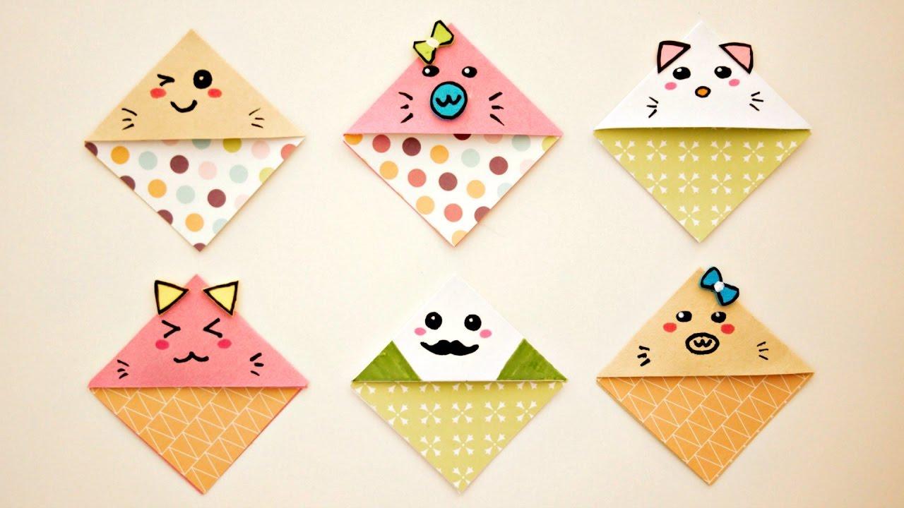 Diy Cute Easy Kawaii Bookmarks Youtube