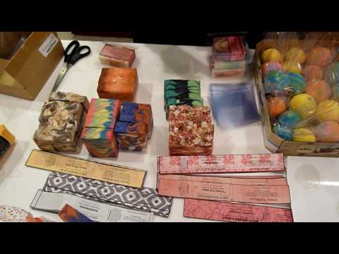 Packaging My Soaps, Bath Fizzers, Etc