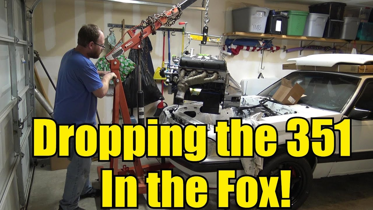 Foxbody Mustang Budget Turbo Build - Dropping the 351 In the Mustang