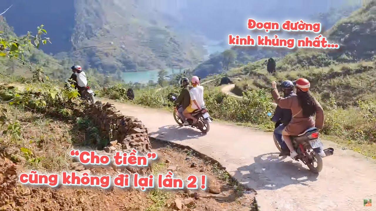 Đoàn Color Man lạnh gáy trải nghiệm xe máy 8 km đường đèo hiểm trở để xuống sông Nho Quế !
