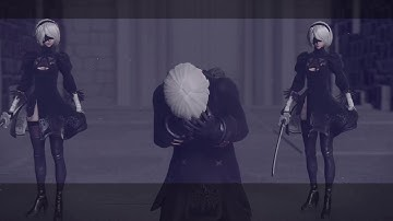 NieR Automata - The Despair Of 9S (2B Models Boss Battle)